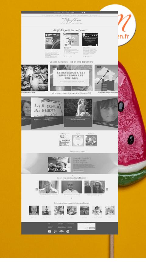 habillage site magzen annonceurs